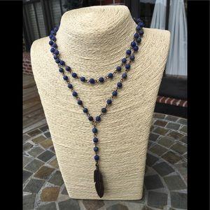 Jewelry - Jewelry Junkie Double Strand Blue Necklace